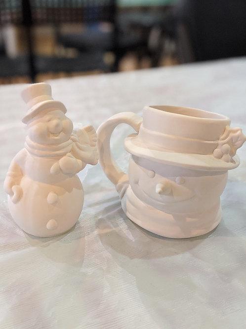Snowman Mug & Figurine
