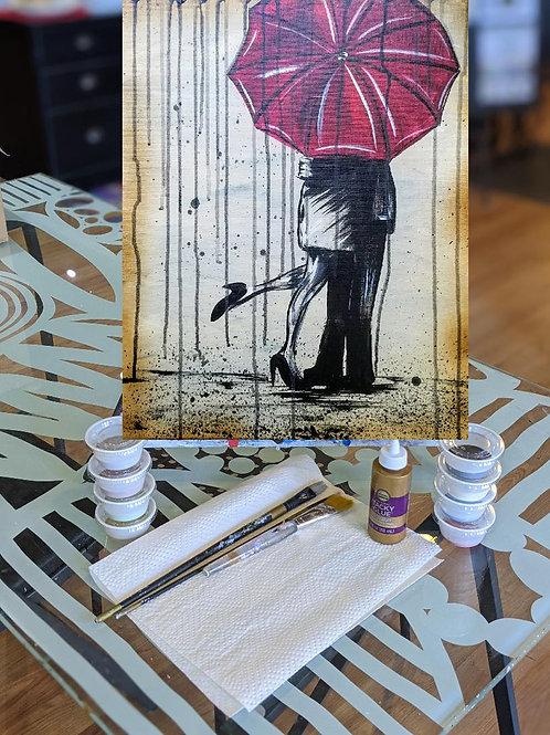 Canvas To-Go Kit: Red Umbrella
