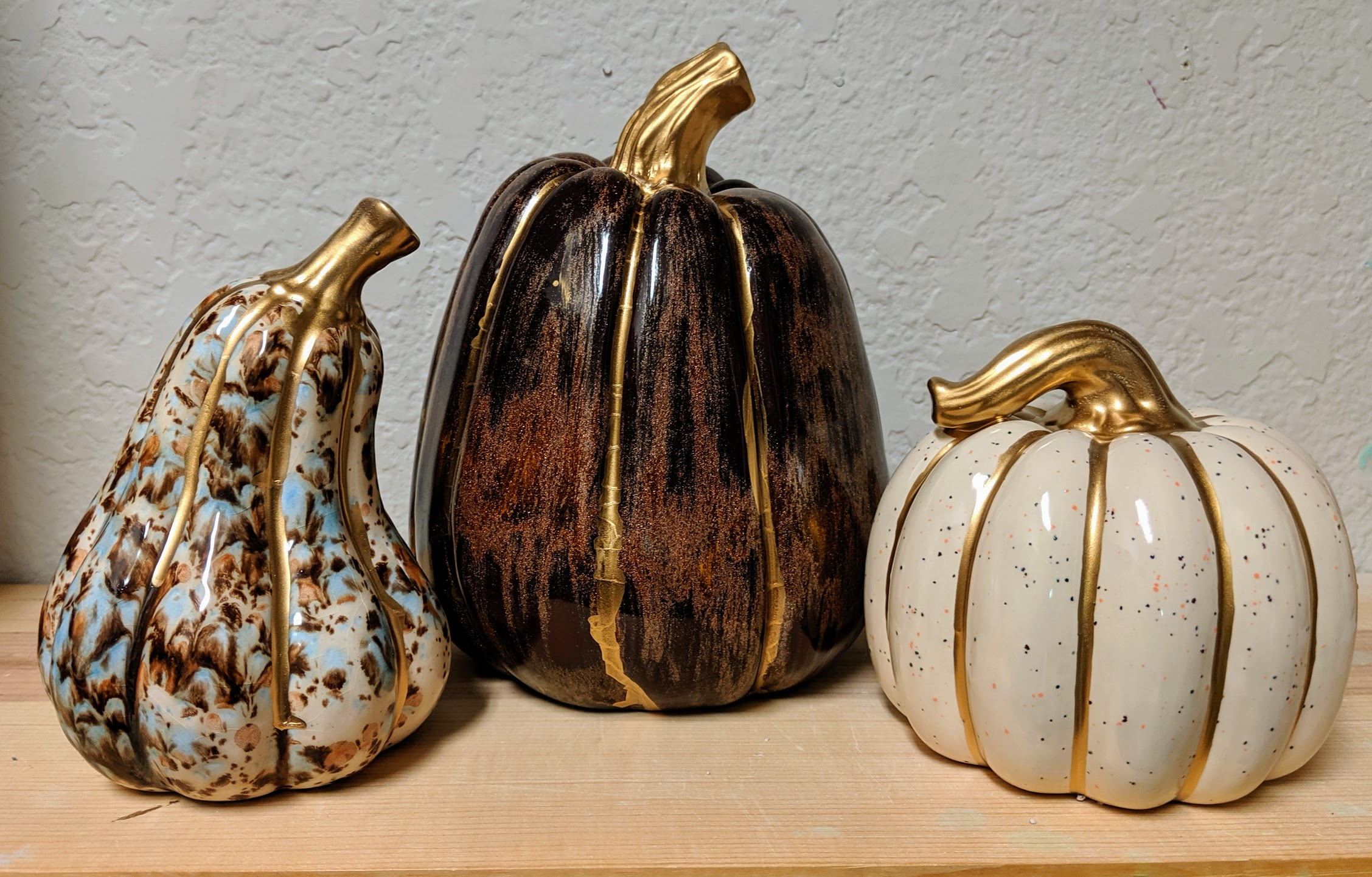 Ceramic Family Pumpkins