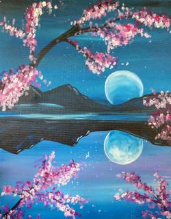 Evening Blossom Reflections