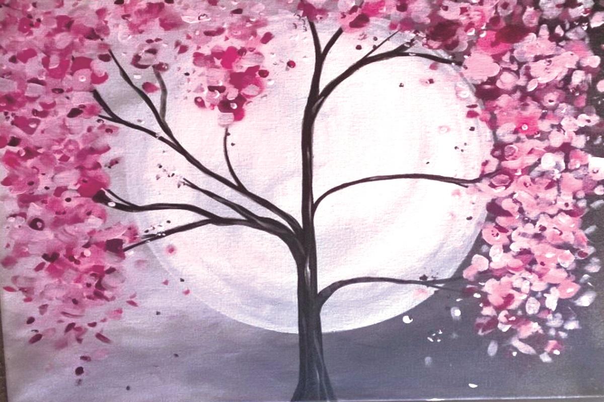 Cherry Blossom & Moon