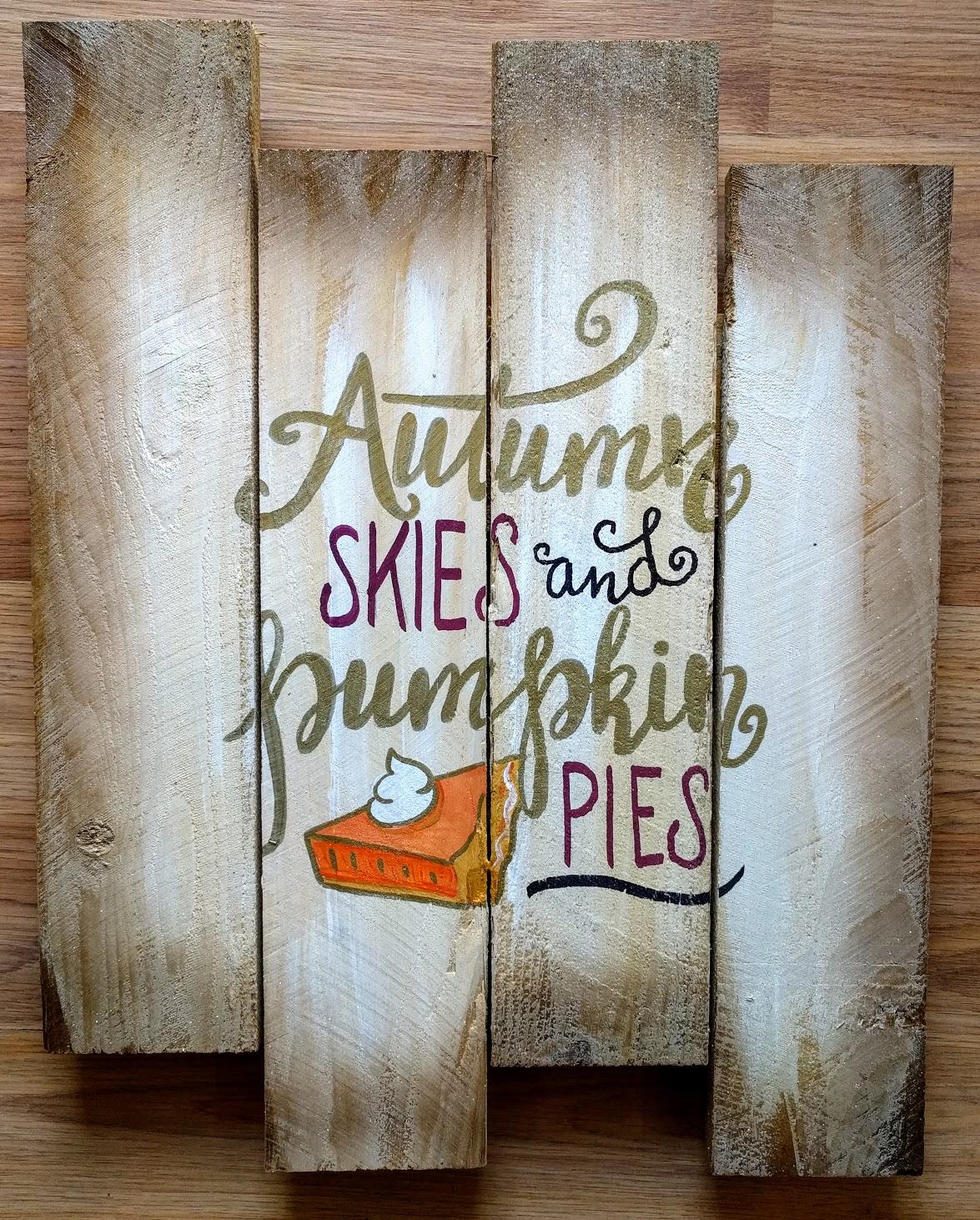 Autumn Skies & Pumpkin Pies Pallet