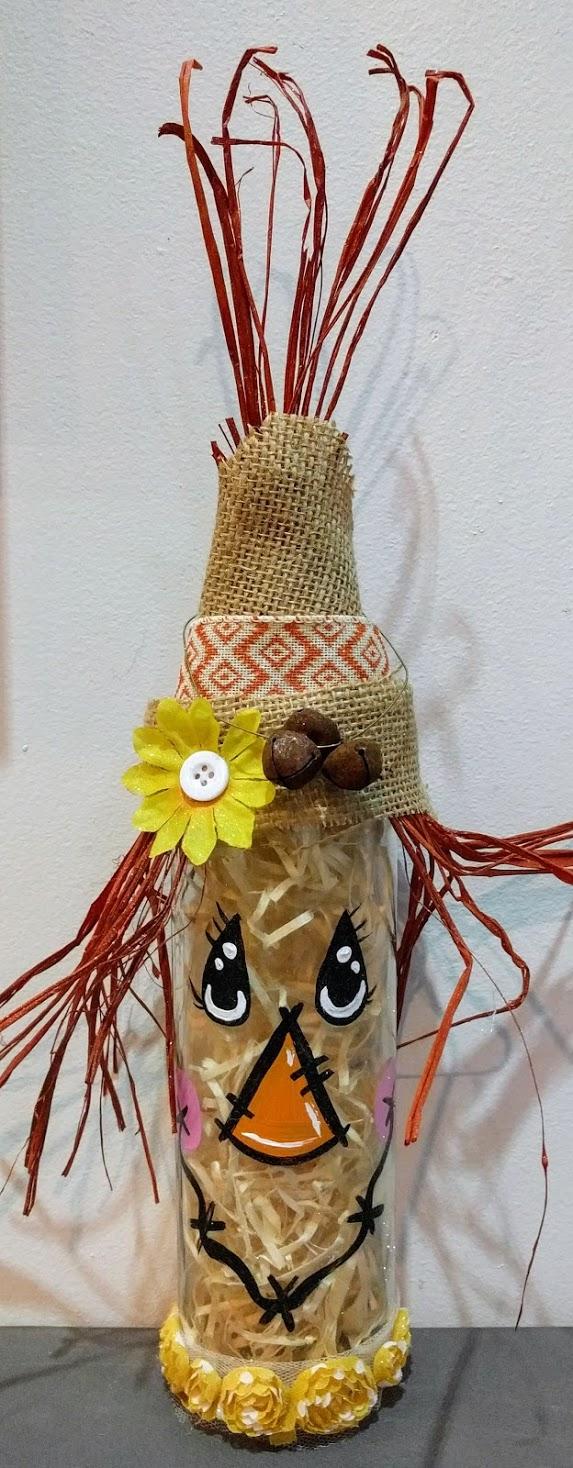 Scarecrow Wine Bottle Decor