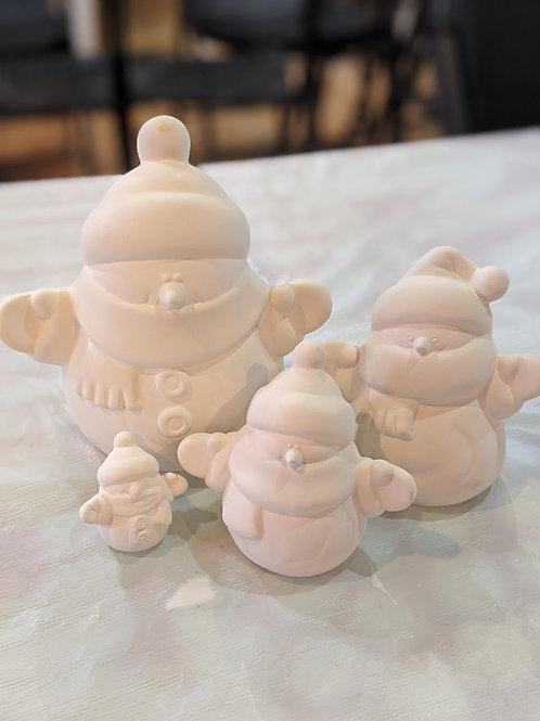 Snowman Family set of 4