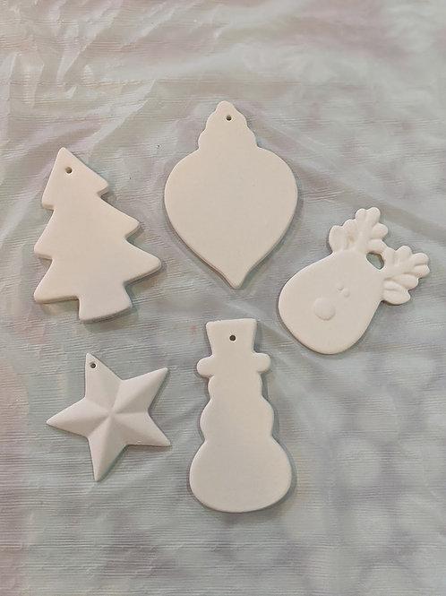Set of 5 Christmas Ornaments