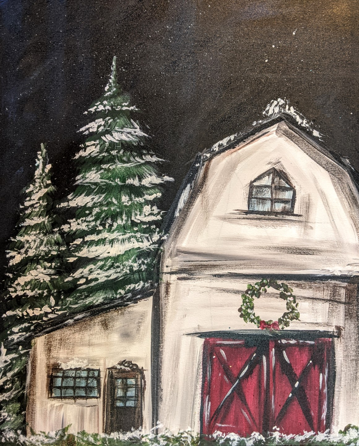 White Christmas Barn