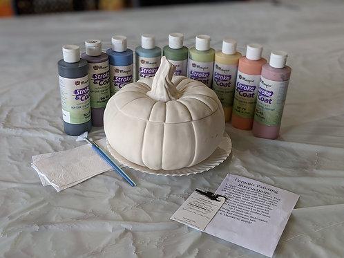 Ceramic Pumpkin Jar