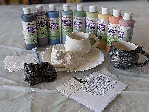 Ceramic Black Cat Combo Mug & Figurine