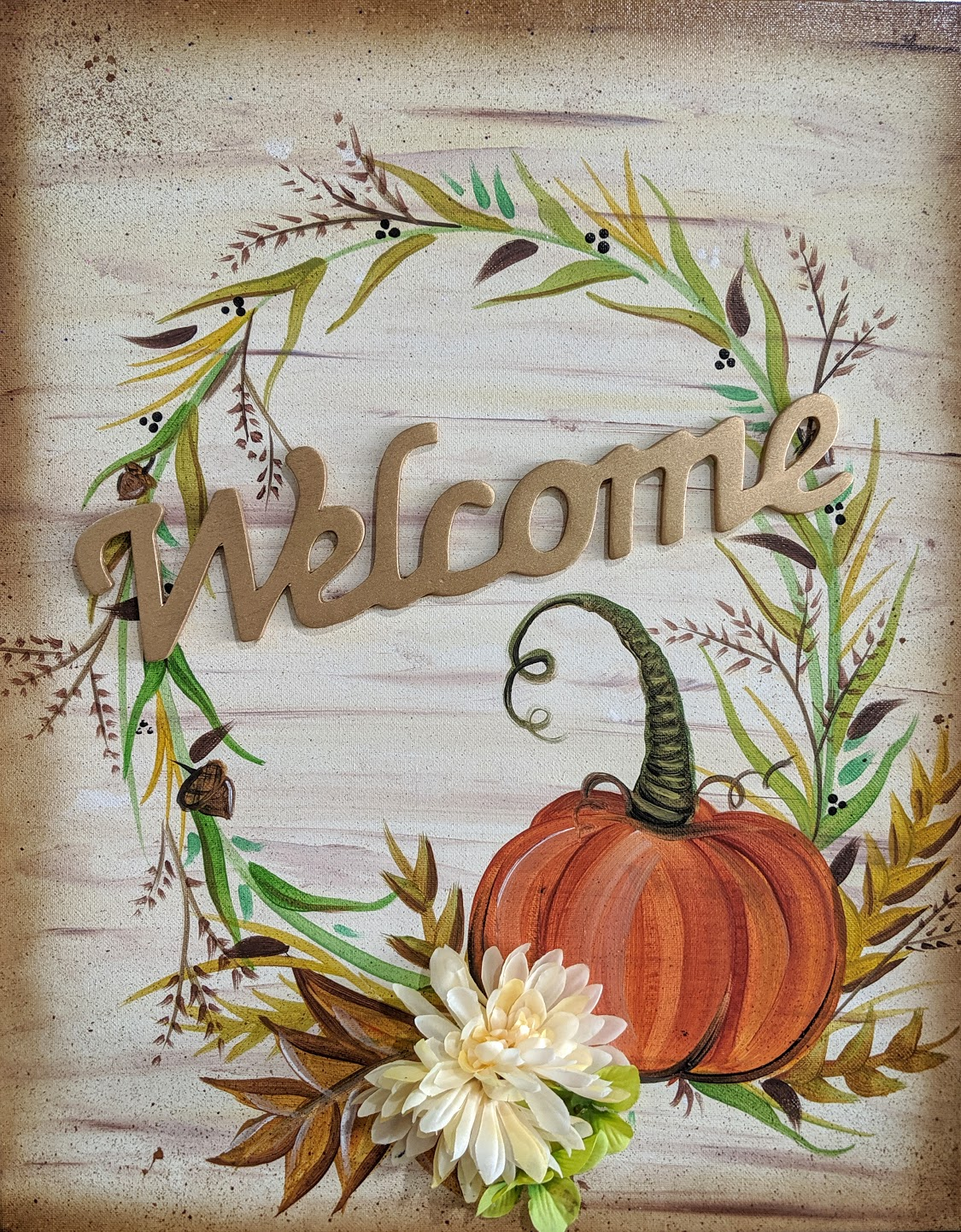 Fall Wreath Welcome