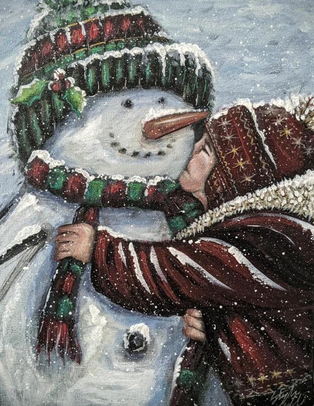 Boy & Snowman