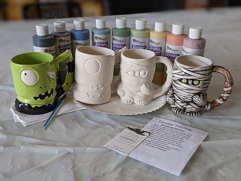 Ceramic Mummy & Zombie Mug Combo