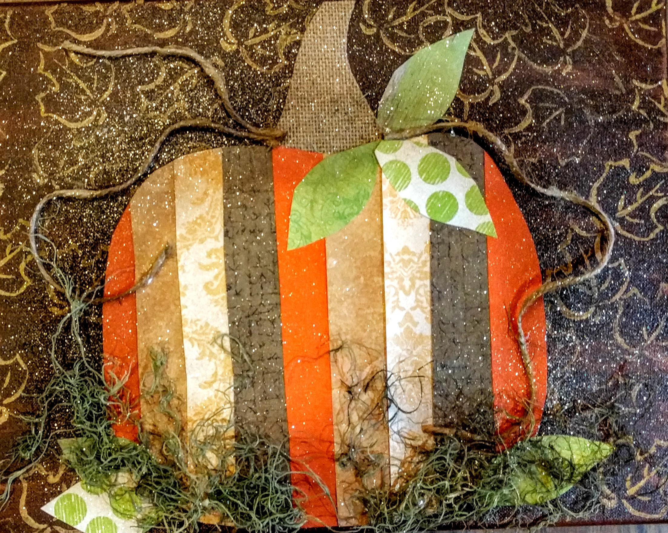 Mixed Media Pumpkin
