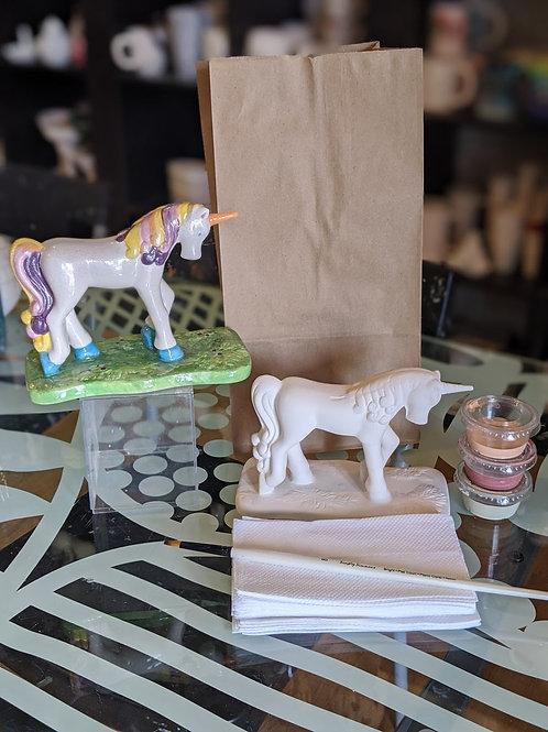Standing Unicorn Ceramic
