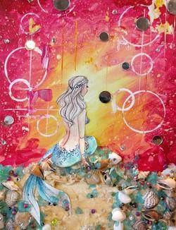 Mixed Media Mermaid 2