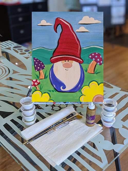 Canvas To-Go Kit: Spring Gnome