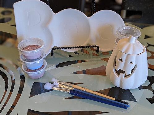 Boo Dish & Cutie Jack-o-lantern