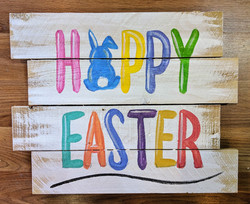 Colorful Happy Easter Pallet
