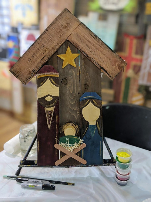 Wooden Project To-Go Kit: Nativity