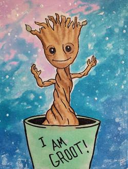Watercolor Baby Groot