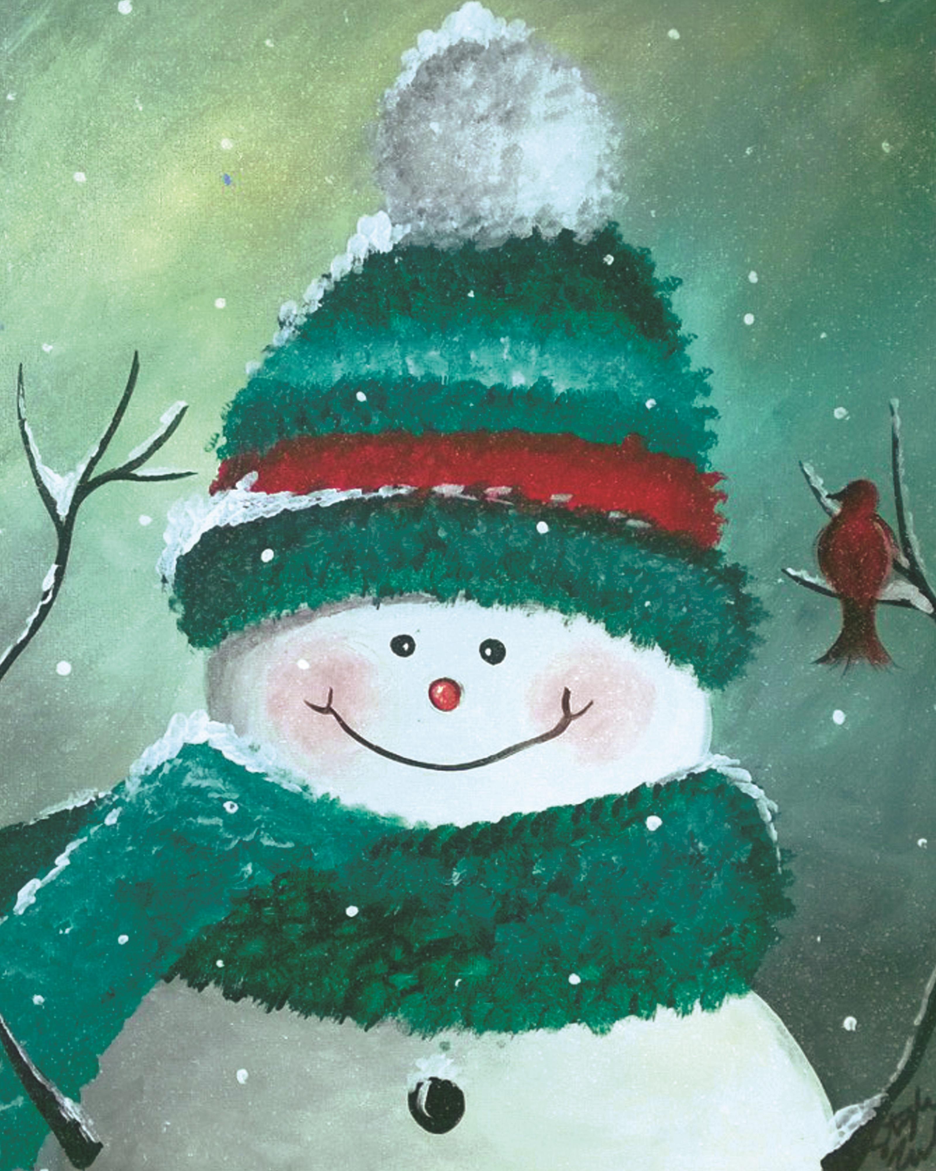 Vintage Snowman Tall