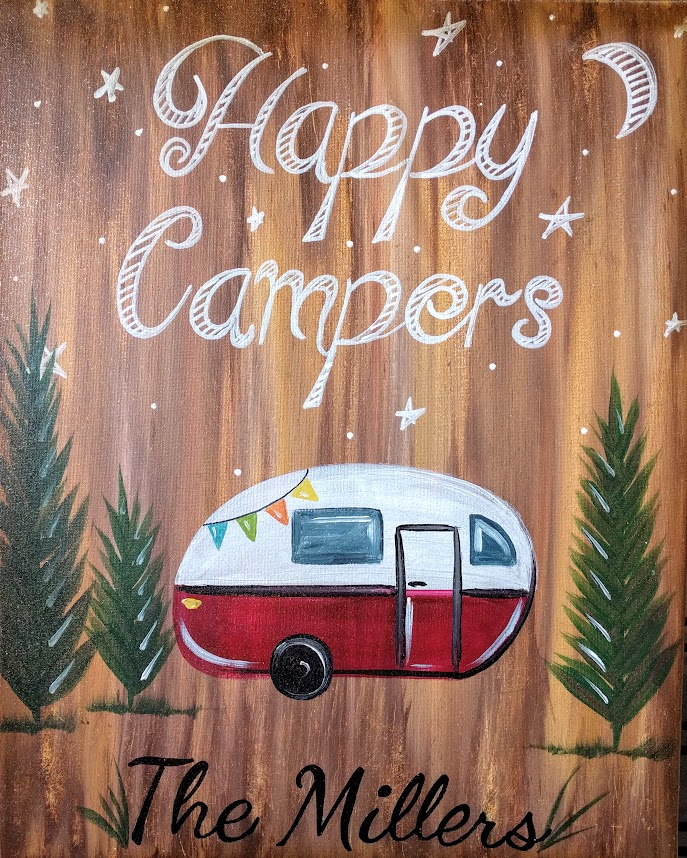 Happy Campers on Canvas
