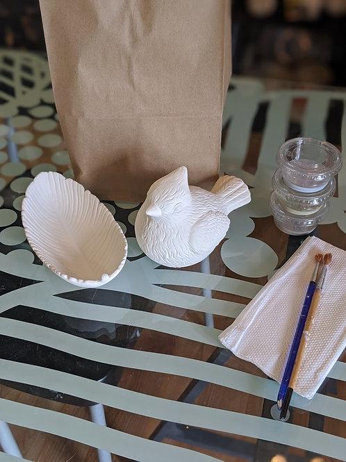 Feather Dish & Birdie Combo