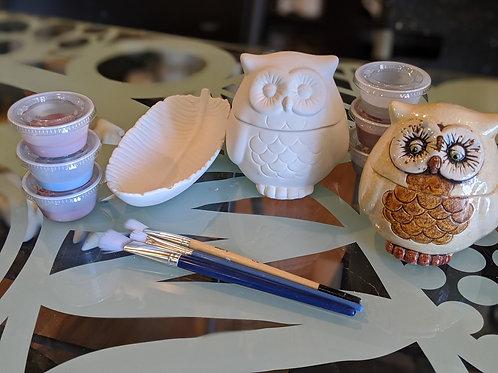 Owl Box & Leaf Dish
