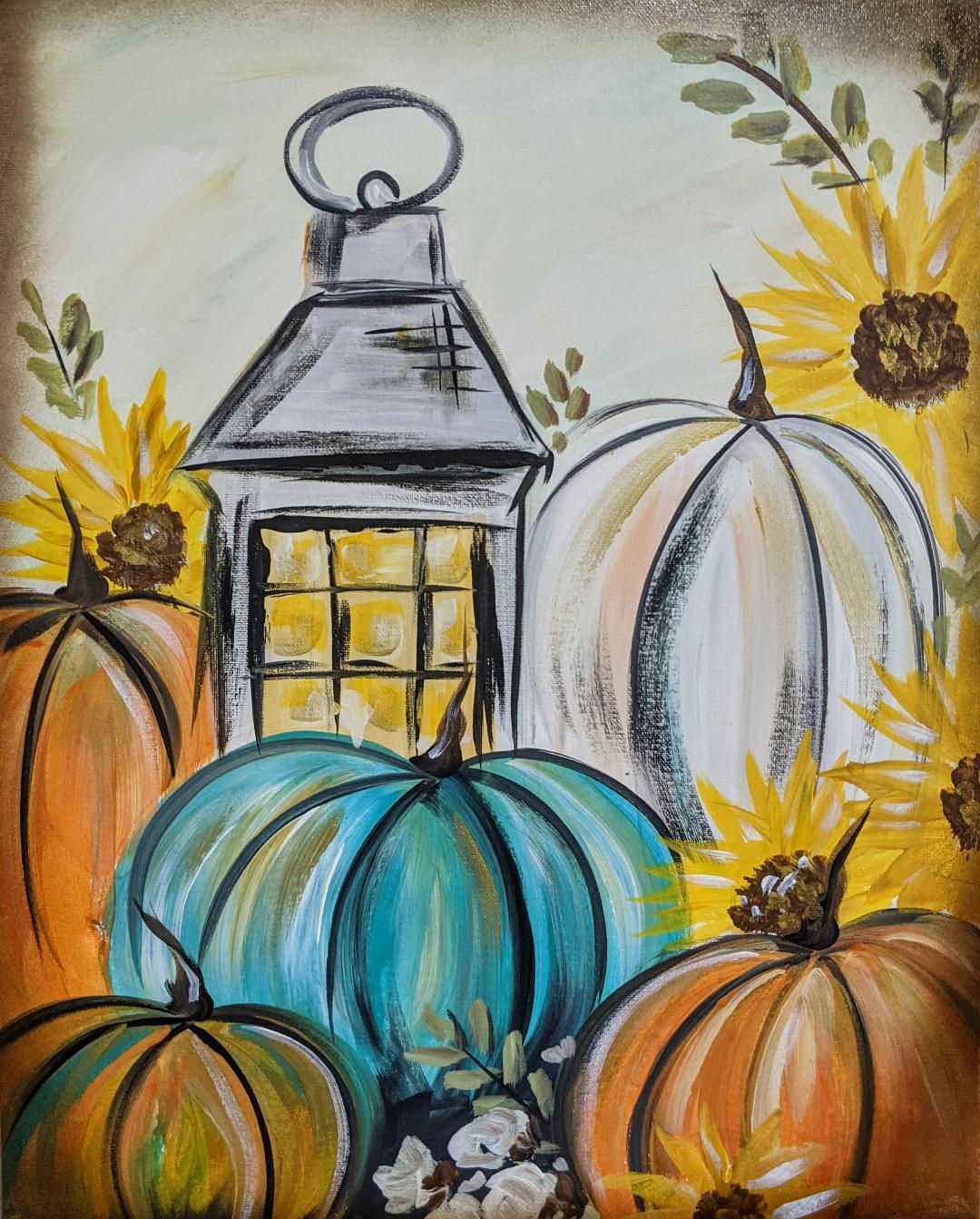 Lantern & Pumpkins
