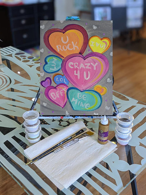 Canvas To-Go Kit: Sweethearts