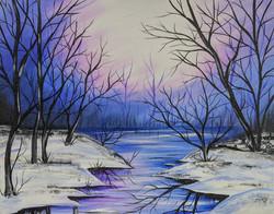 Winter Lavendar Skies