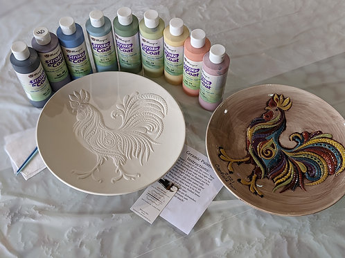 Ceramic Rooster Plate