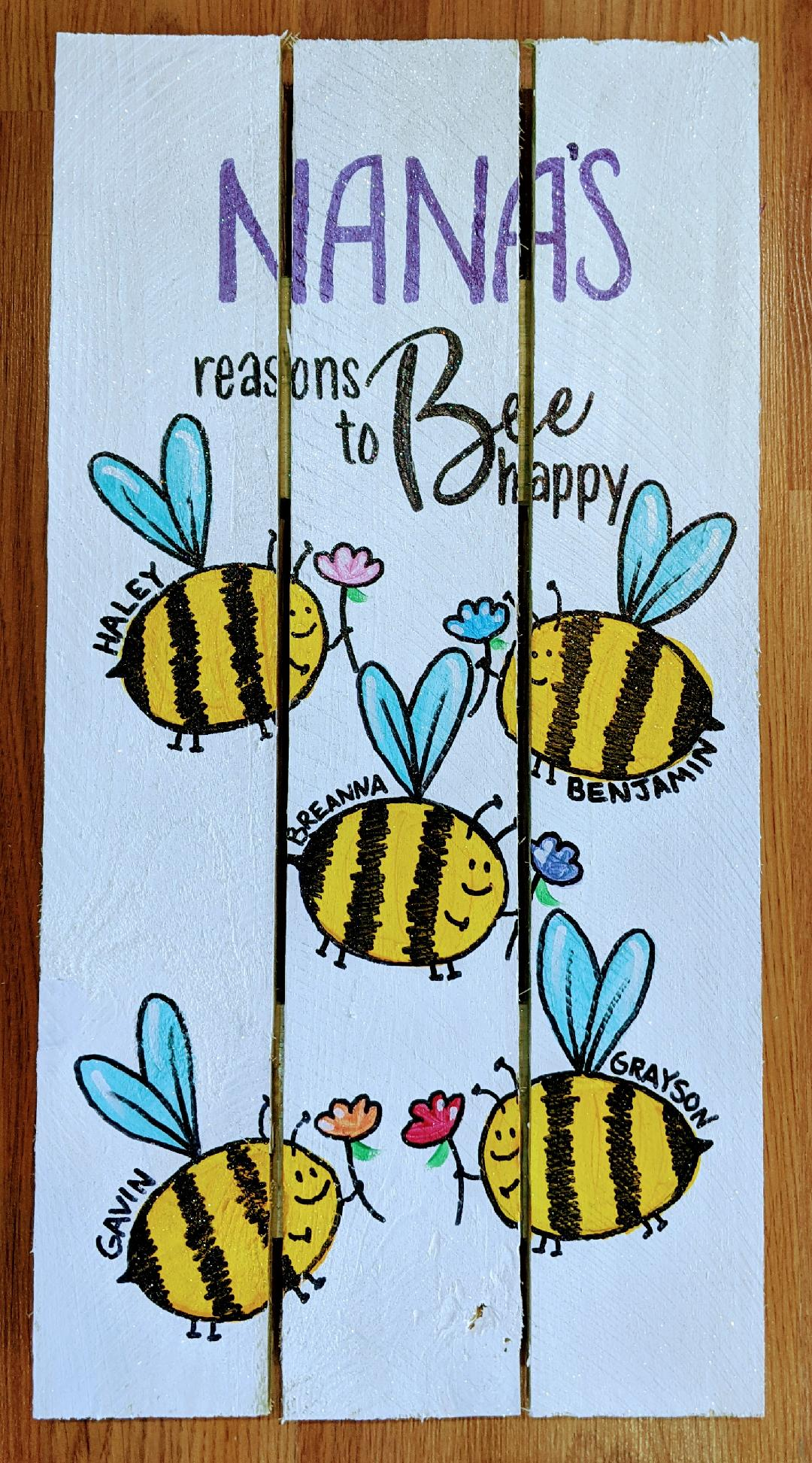 Bee Happy Pallet Lrg