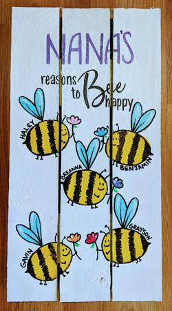 Bee Happy Pallet Lrg