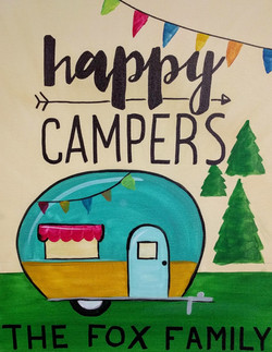 Fox Family Happy Campers