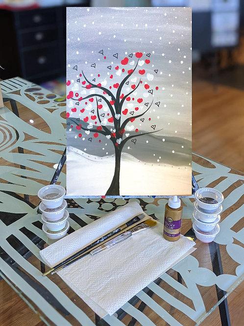 Canvas To-Go Kit: Vday Tree