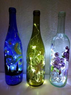 Wine Bottle Lights Up $25