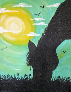 Kids Horse Silhouette