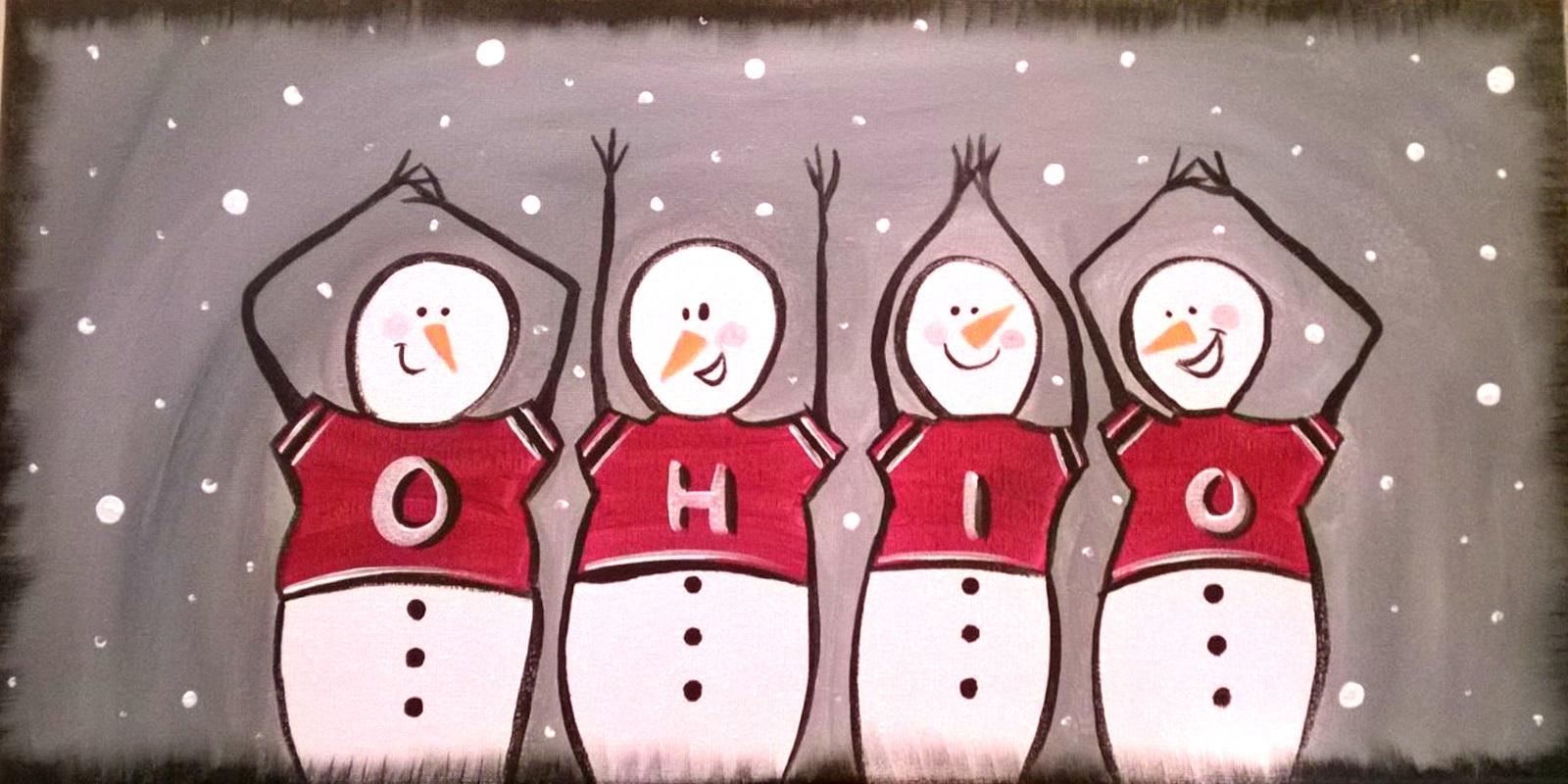 O-H-I-O Snowmen