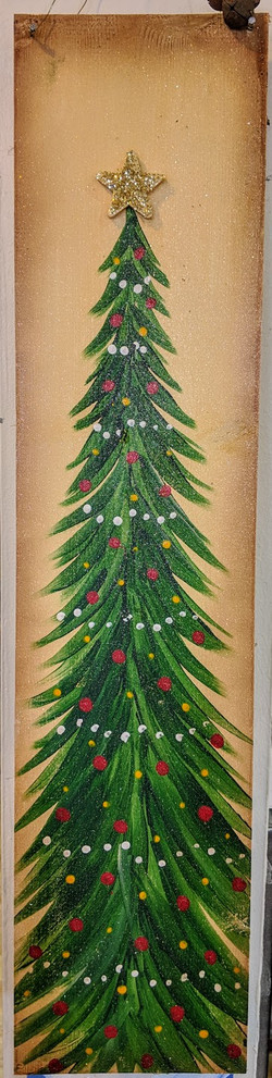 Wooden Board Christmas Tree