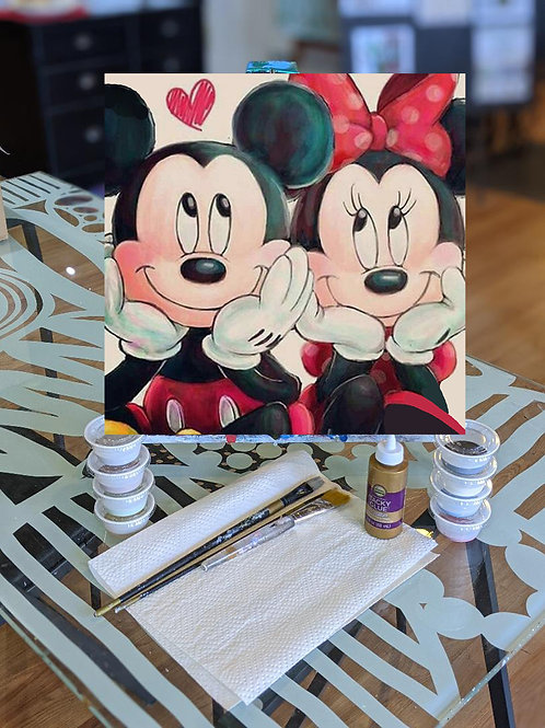 Canvas To-Go Kit: Mickey & Minnie Love