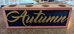 Autumn Wooden Tea Light Holder