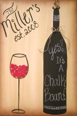 Chalk Board Wine
