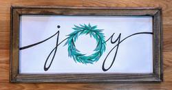 Joy Wreath Reverse Canvas