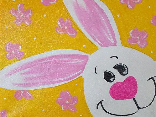 Peek-a-Boo Bunny Canvas