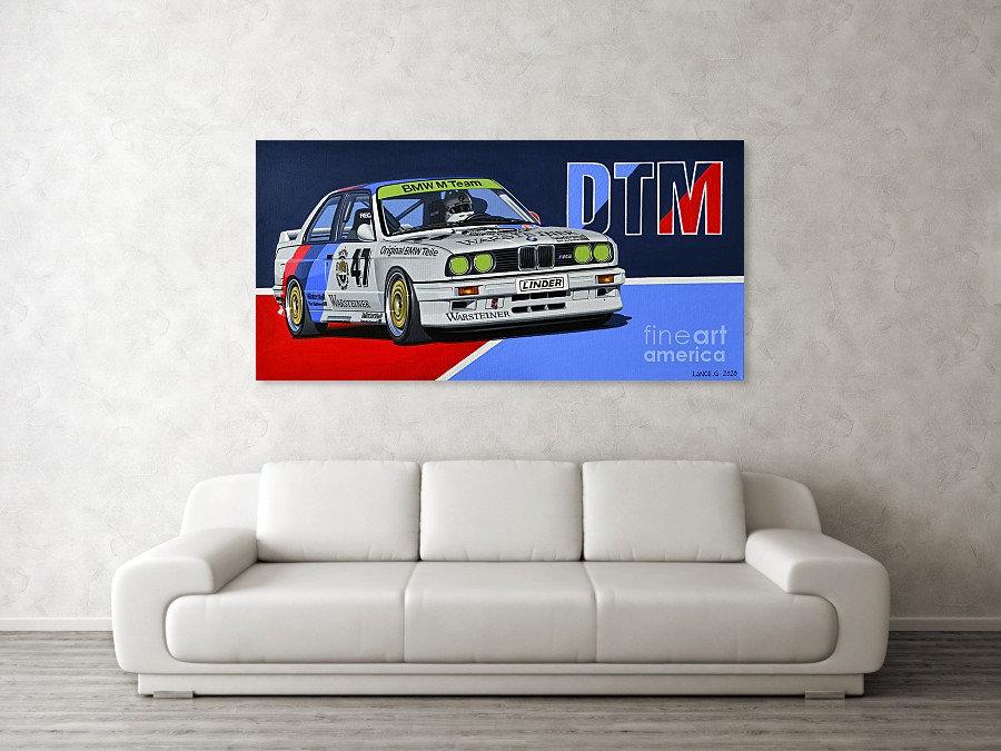 BMW E30 M3 DTM ART PRINT | BMW E30 M3 DTM POSTER | BMW E30 M3 DTM WALL ART