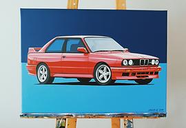 BMW E30 M3 ARTWORK_PAINTING