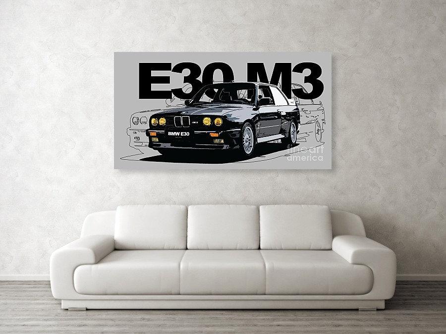 BMW E30 M3 ART PRINT | BMW E30 M3 POSTERS | BMW E30 M3 WALL ART