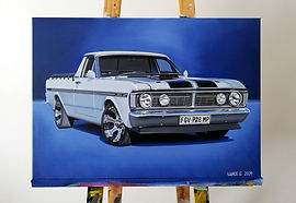 FORD RANCHERO ARTWORK/PAINTING