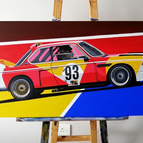 1975 ALEXANDER CALDER BMW 3.0 CSL ARTWORK