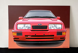 RED FORD SIERRA COSWORTH RS500 ARTWORK/PAINTING